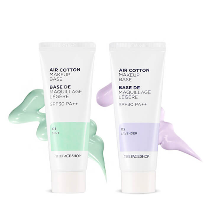 База под макияж The Face shop Air cotton Makeup Base de Maquillaje Legere SPF 30 PA++, 30 мл в интернет-магазине Etomarta.com